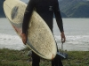 Surfer bei Kaikoura, Südinsel, Neuseeland