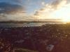 Sonnenuntergang über Auckland vom Mt. Victoria, Nordinsel, Neuseeland