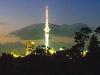 Auckland Tower bei Nacht, Nordinsel, Neuseeland