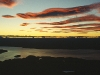 Blick von der Luxmore Hut auf Lake Te Anau, Fjordland, Neuseeland