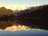 Lake Matheson, 'Mirror Lake' und die Südalpen, Neuseeland
