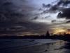Sonnenuntergang am Strand von Gisborne, Nordinsel, Neuseeland