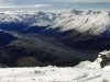 Blick vom Treble Cone Skigebiet ins Matukituki-Tal, Alpen der Südinsel, Neuseeland