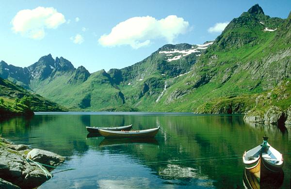 See bei A auf den Lofoten, Norwegen