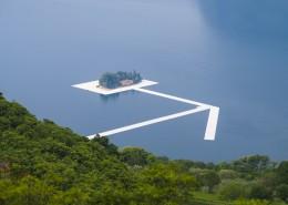 Auf dem Lago d'Iseo wird eine Kunstinstallation von Christo vorbereitet