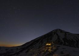 Sternenhimmel über der Tölzer Hütte im Karwendelgebirge,Tirol,Österreich
