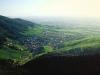 Rebland südlich von Baden-Baden von der Burgruine Yburg, Baden-Württemberg, Deutschland