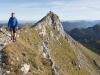Gipfelgrat der Hochplatte, Ammergauer Alpen, Bayern, Deutschland