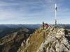 Gipfel der Hochplatte in den Ammergauer Alpen, Bayern, Deutschland