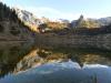 Stuhljoch,Funteseetauern, Grießkogel im Spiegel des Funtensee, Nationalpark Berchtesgaden, Bayern, Deutschland