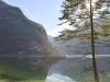 Blick auf den südlichen Königssee, Nationalpark Berchtesgaden, Bayern, Deutschland