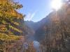 Leuchtende Herbstwälder am Königsee, Nationalpark Berchtesgaden, Bayern, Deutschland