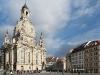 Frauenkirche und Neumarkt in Dresden, Sachsen, Deutschland
