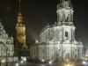 Hofkirche und Stadtschloss bei Nacht, Dresden, Sachsen, Deutschland