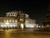 Semperoper bei Nacht, Dresden, Sachsen, Deutschland