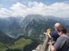 Am Aussichtspunkt auf dem Jennergipfel, Berchtesgaden, Bayern, Deutschland