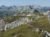 Auf dem Gipfel des Schneibstein im Nationalpark Berchtesgaden, Bayern, Deutschland