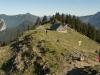 Der Sonnbergalm Hochleger am Aufstieg zum Roßstein, Bayern, Deutschland