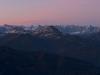 Morgendämmerung über dem Karwendel, Tirol, Österreich