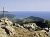 Aussicht von Le Calache auf die Bucht von Campo,  Elba, Toskana, Italien