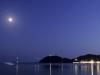 Vollmond über der Bucht von Marina die Campo, Elba, Italien