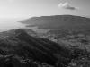 Blick vom Monte Castello  auf Porto Azzurro und die Halbinsel Calamita, Elba, Toskana, Italien