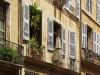 Typische südfranzösische Hausfassade in Aix-en-Provence, Provence, Frankreich