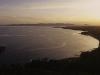 Sonnenuntergang über der Bucht von St.Raphael, Cap Dramont, Cote d\'Azur, Frankreich