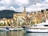 Hafen und Altstadt von Menton, Cote d\'Azur, Frankreich