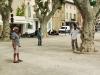 Boulespiueler in St. Tropez, Cote d\'Azur, Frankreich