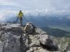 Ankunft am Gipfel der Tournette am Lac d\'Annecy, Savoyen, Frankreich