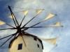 Windmühle von Oia, Santorini, Kykladen,Griechenland