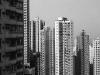Hochhäuser an den Berghängen von Sheung Wan, Hongkong, China