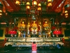 Tempelszene im Po Lin Kloster, Lantau Island, Hongkong, China