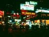 Strassenszene in Tsimshatsui bei Nacht, Hongkong, China