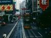 Strassenszene auf der Hennessy Road, Hongkong, China