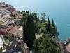 Blick von der Festung auf Malcesine, Gardasee, Italien