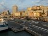 Im Fährhafen von Genua, Ligurien, Italien