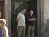 Eine Unterhaltung von Mann zu Mann, Orvieto, Umbrien, Italien