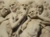 Detail aus dem Wandrelief am Dom von Orvieto, Umbrien, Italien