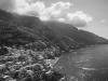 Blick auf Positano an der Amalfiküste, Kampanien, Italien