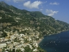 Blick auf Positano, Amalfiküste, Kampanien, Italien
