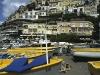 Am Strand von Positano, Amalfiküste, Kampanien, Italien