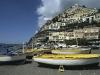 Fischerboote am Strand von Poistano, Amalfiküste, Kampanien, Italien