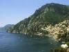 Die Küste bei Positano, Amalfiküste, Kampanien, Italien