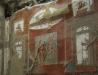 Fresko im Collegium der Augustalen, Herculaneum, Kampanien, Italien