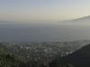 Morgensonne über Sorrent, Vesuv und Neapel, Kampanien, Italien