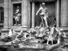 Detailansicht der Fontana di Trevi, Rom, Italien