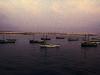 Boote im Abendlicht auf Boavista, Kapverdische Inseln