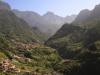 Terassenlandschaft vor der Bergkulisse von Madeira, Portugal